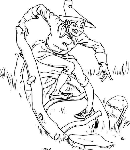 Limerick Verse Animation Crooked Bent Cartoon Sixp