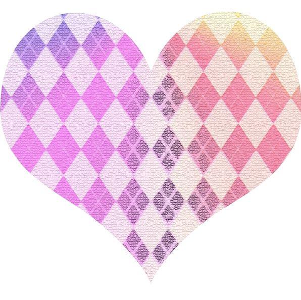 Heart Emotion Form Pink Flushed Shape Purple Elabo
