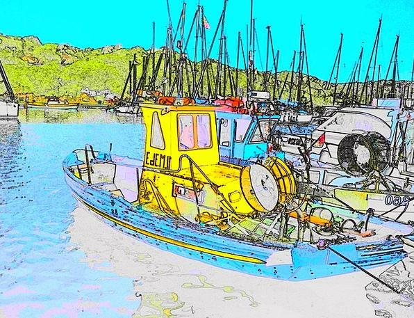 Port Harbor Water Aquatic Fishing Boat Filter Boat