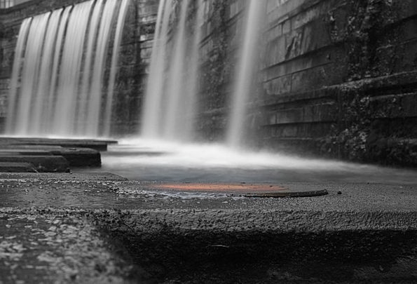 Water Aquatic Saarland Country Hamlet Waterfall Ca