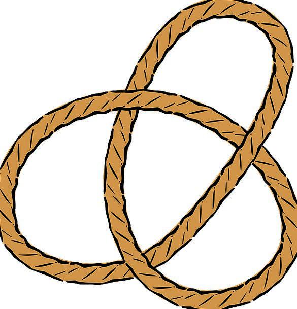 Rope Cord Lumps Pretzel Knots Trefoil Fastening Na