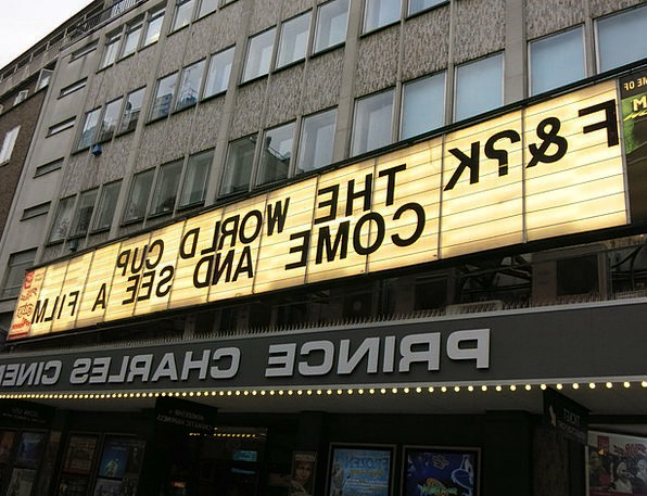 Cinema Film Symbol Words Arguments Sign London Wor