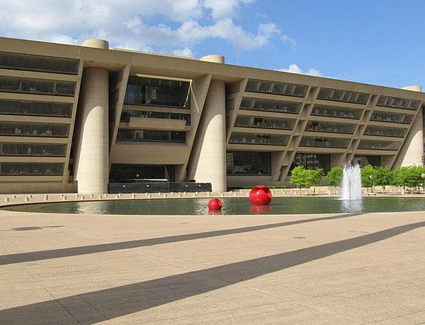 Dallas Buildings Architecture Plaza Piazza City Ha
