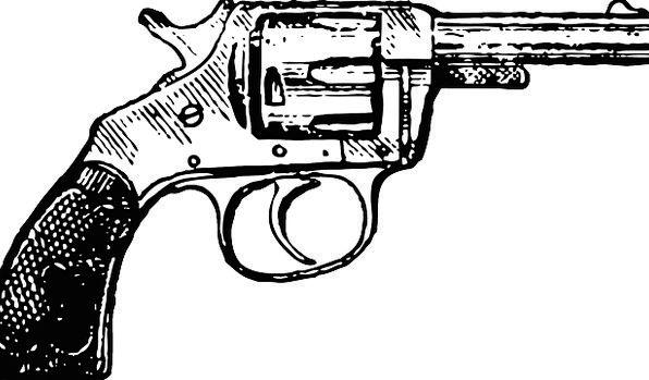 Revolver Cowboy Unreliable Pistol Free Vector Grap
