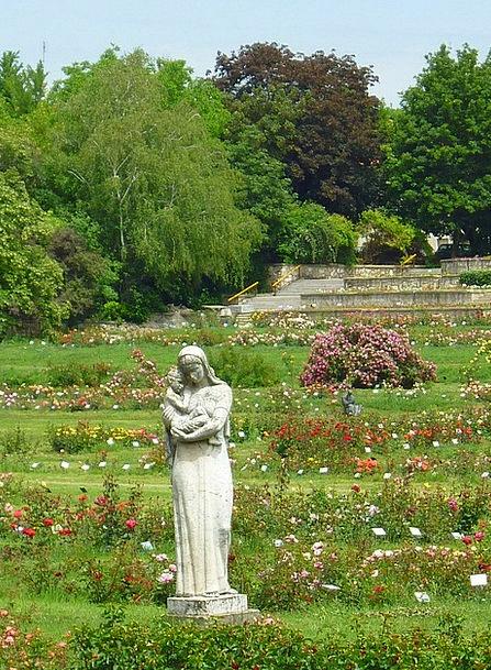 Rose Garden Landscapes Figurine Nature Rose Bushes