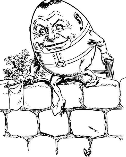 Humpty Dumpty Poem Nursery Plant sales outlet Nurs