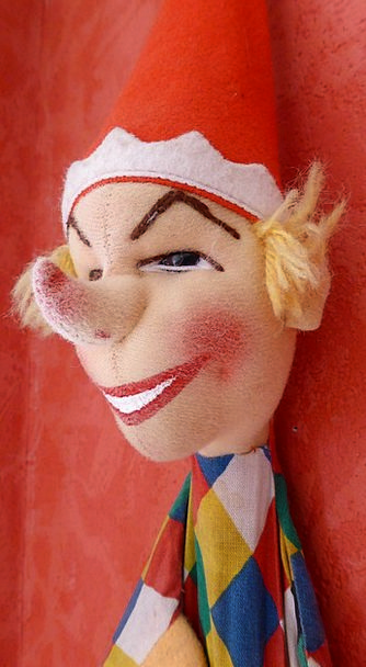 Kasper Toys Dolls Punch And Judy Doll Toy Hand Pup