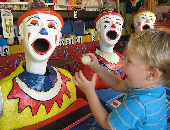 Clowns Jokers Amusements Carnival Festival Fun Fai