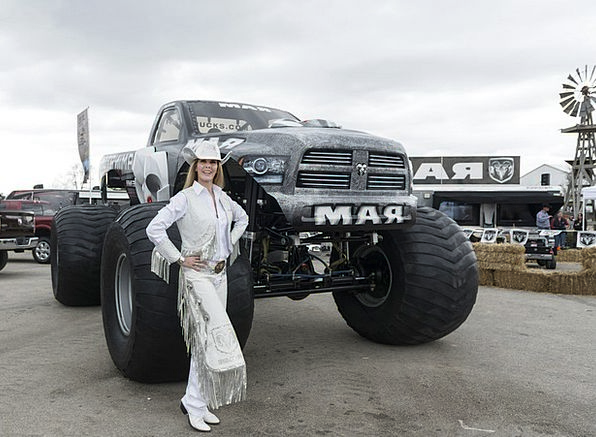 Monster Truck Texas Cowgirl Exhibit Exhibition Pic