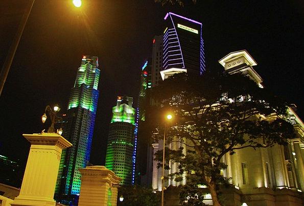 Singapore Nightly Seaside Coastal Night Long Expos