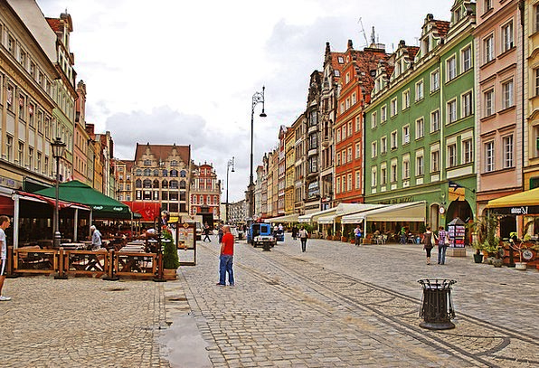 Wroclaw Old Town Buildings Architecture Wroc?aw Po