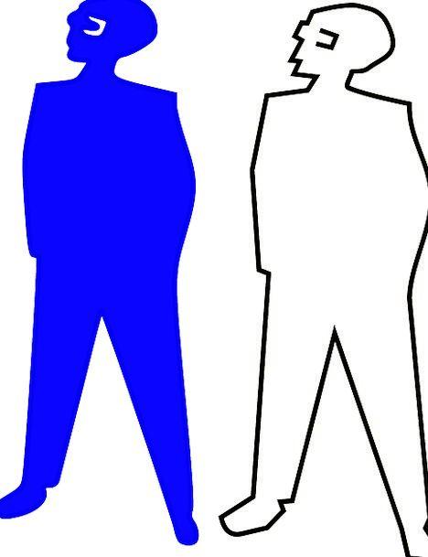 Blue Azure Gentleman Silhouette Outline Man Pocket