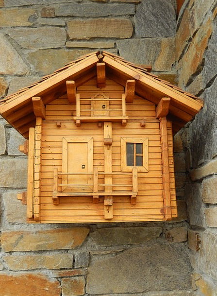 Mailbox Letterbox Pole Chalet Cabin Post