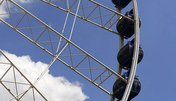 Giant Ferris Wheel Huts Budapest Cabins Places Of
