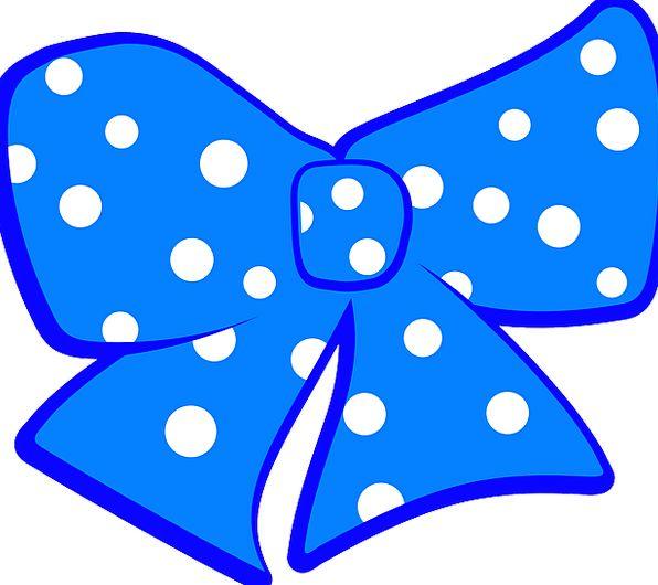 Bow Crossbow Dots Spots Polka Ribbon Band Blue Whi