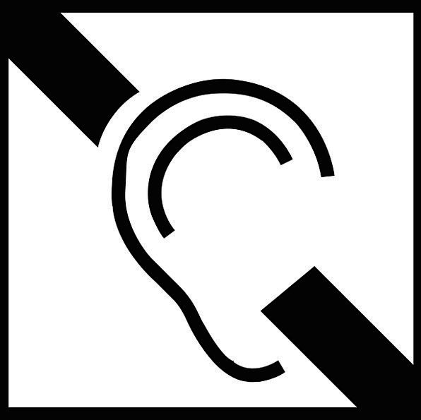 Hearing Aid Deaf Deafened Induction Loop Symbol Hearing