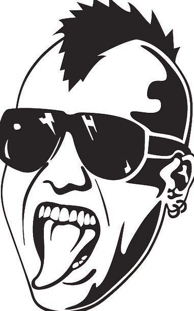 Punk Inferior Expression Man Gentleman Face Open M