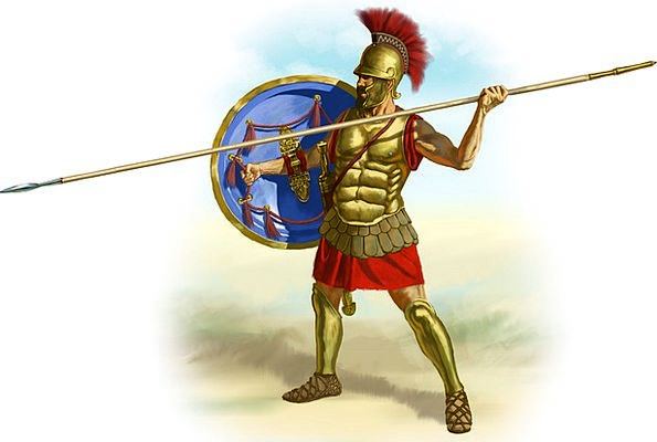 Romans Fighter Spear Lance Gladiator Shield Hoplit