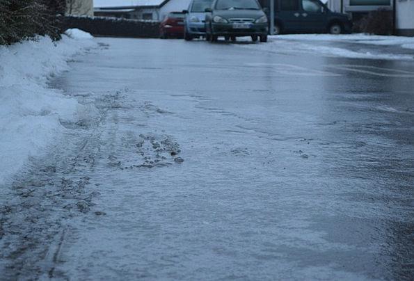 Ice Frost Traffic Flat Transportation Black Ice Sm