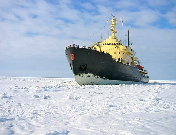 Icebreaker Opener Mer De Glace Gulf Of Bothnia Sno
