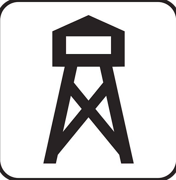 Lookout Tower Watch Tower Watchtower Symbol Sign I