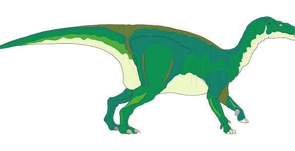 Green Lime Relic Standing Stand-up Dinosaur Tail E