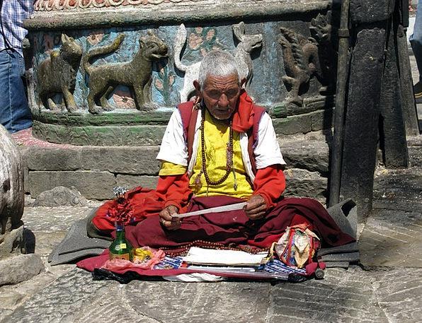Nepal Monk Friar Hindu Pray Request Tibetan Prayer