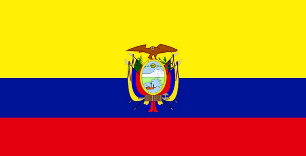 Ecuador Standard National Nationwide Flag South Am