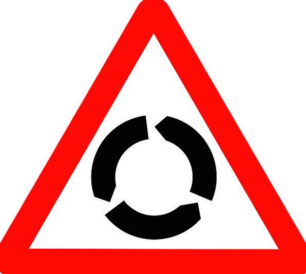 Sign Traffic Rotund Transportation About Around Ro