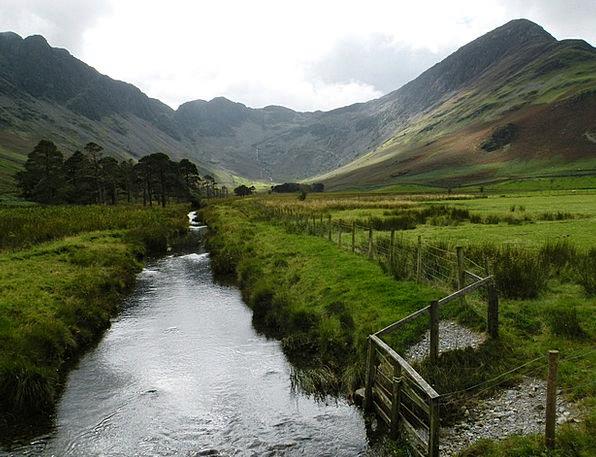 Mountains Crags Landscapes Watercourse Nature Land