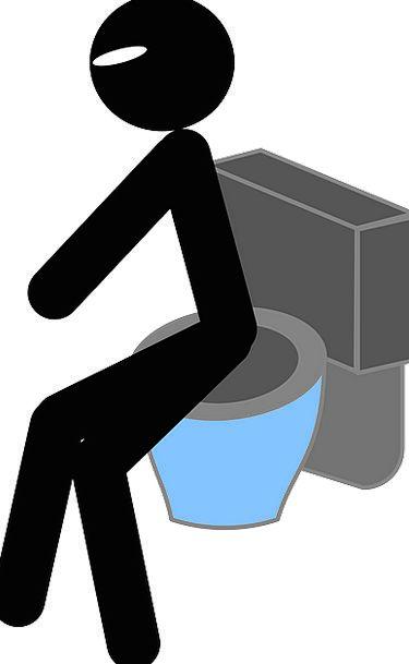 Toilet Lavatory Gentleman Sitting Sedentary Man Ur