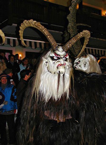 Winter Season Perchtenlauf Austria Eerie Tradition