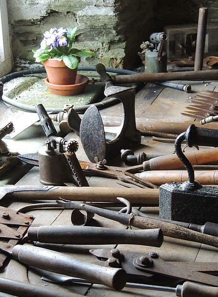 Tools Gears Hut Flower Floret Shed Garden Plot Hel