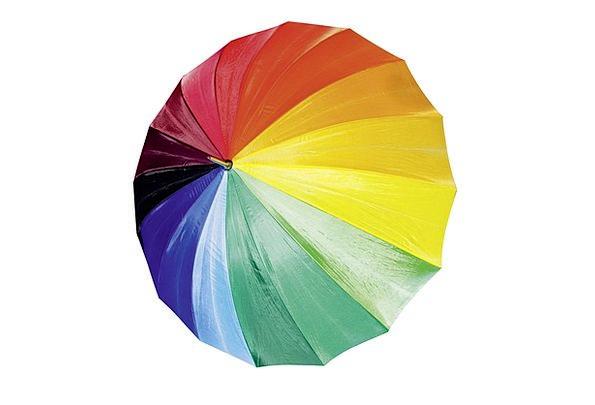 Umbrella Canopy Volley Weather Climate Rain Rainbo