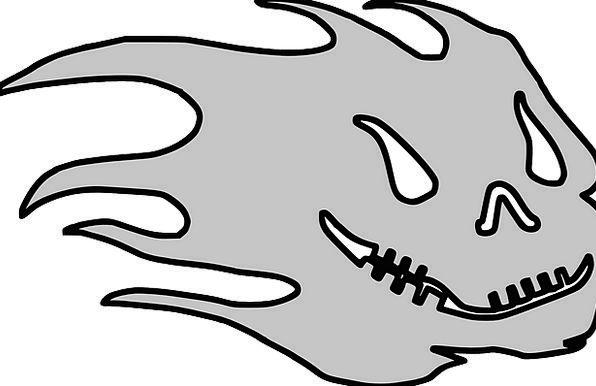 Skull Mind Frightening Halloween Ghastly Cartoon S