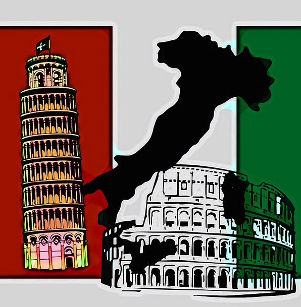 Italy Chart Flag Standard Map Banner Excellent Tow