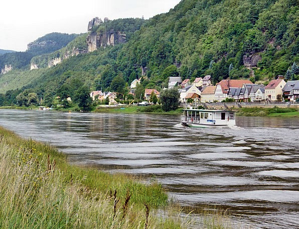 Postelwitz Paddle Steamer Elbe Saxon Switzerland