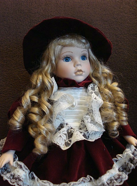 Doll Fair-haired Loops Rings Blond Portrait Repres