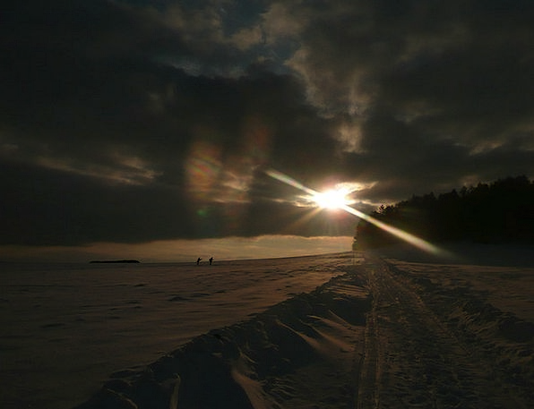 Winter Sunset Vacation Travel Sunset Sundown Winte