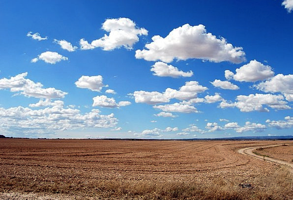 Field Arena Vapors Sky Blue Clouds Earth Soil Dry