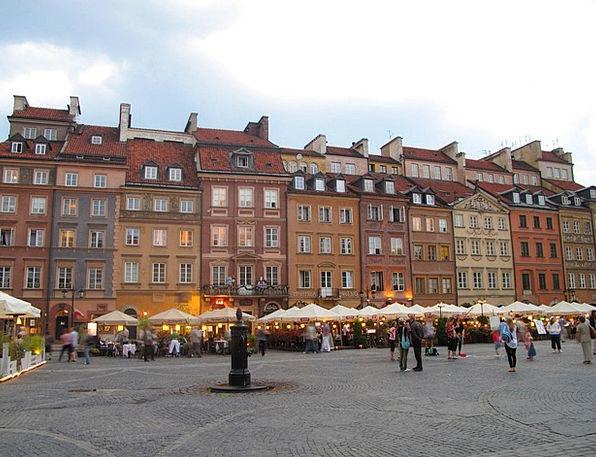 Poland Buildings Architecture Rynek Warsaw City Ur