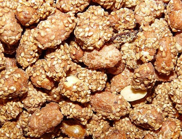 Nuts Mad Trifles Knabberzeug Peanuts Almonds Burne