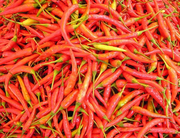 Laos Chilli Pepper Chili Hot Warm So Sharp Red Asi
