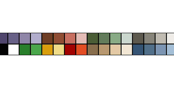 Palette Hue Colour Color Free Vector Graphics Colo