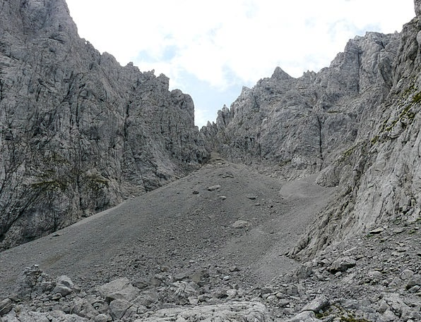 High Angle Crags Scree Talus Mountains Rubble Fiel